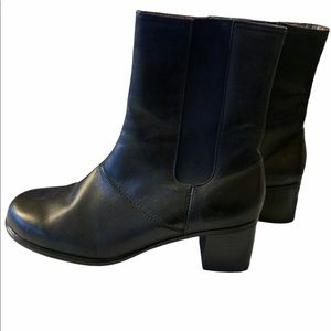 Hush Puppies Leather boots Thinsulate Black 7.5